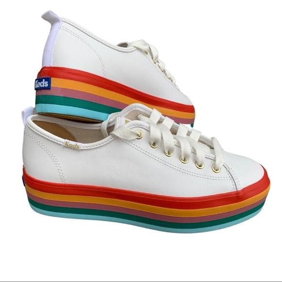 NWOT Keds Triple Up Rainbow sneakers, sz 8